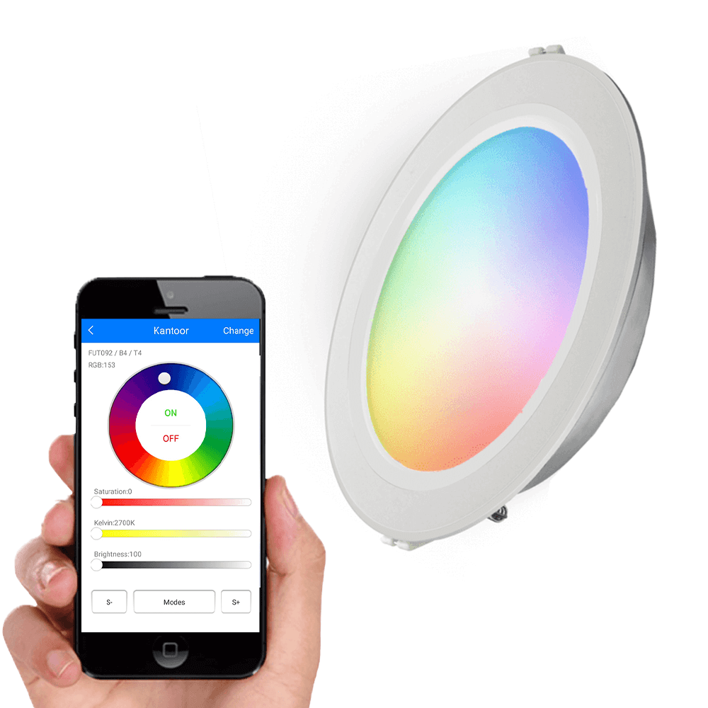 Milight Downlight set RGBWW mét Wifi module 12 watt
