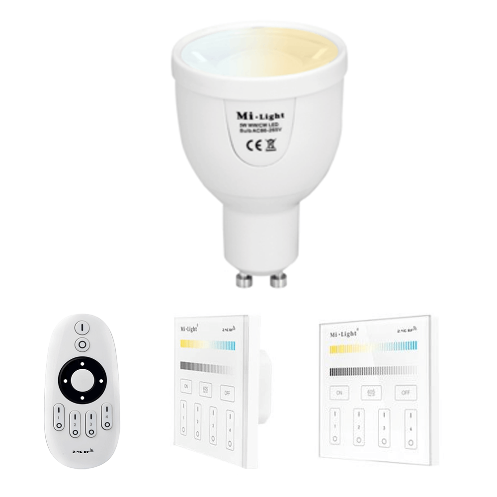 Milight Dual White LED lamp set met afstandsbediening 5W GU10