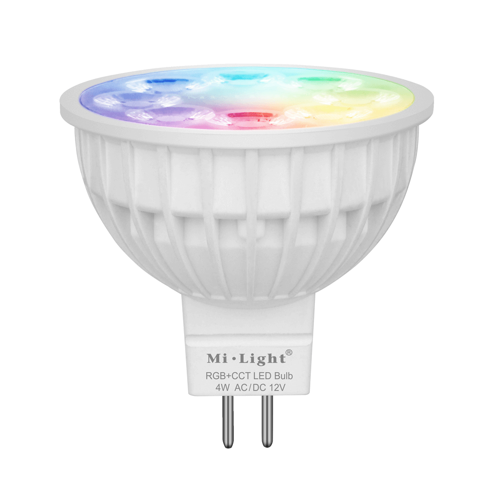 Milight led spot RGBWW 4 Watt MR16 fitting 12V