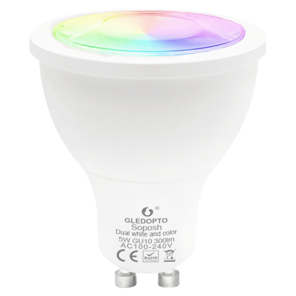 Hue compatible LED spot RGBWW GU10 fitting Zigbee - 5 Watt